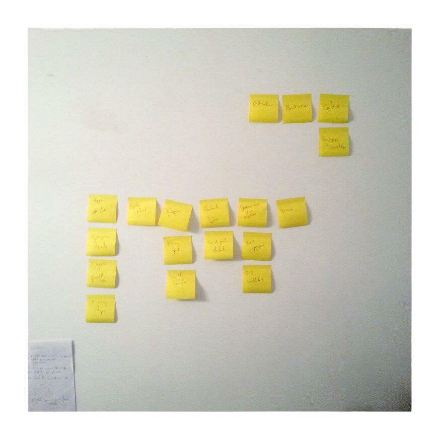 post-it notes on wall, site structure, ux, after
